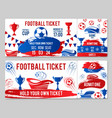 tickets of football soccer cup championship vector image vector image