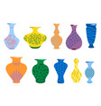 vases for flowers ceramic colored vases vector image vector image