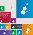 Violin icon sign buttons Modern interface website vector image