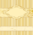 vintage gold label vector image