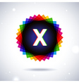 Spectrum logo icon Letter X vector image
