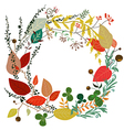Round frame of leaves in Autumn vector image