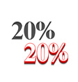 20 discount design vector image