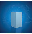 3D box on blue background vector image vector image