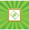 3D movie picture icon vector image vector image
