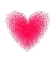 Heart drawn with stipple brush and polka-dots