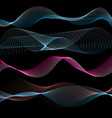 abstract linear waves vector image vector image
