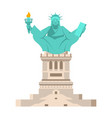america yoga statue of liberty in lotus posture vector image vector image