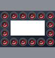 audio speakers subwoofers wall of sound vector image vector image