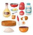 baking pastry prepare cooking ingredients kitchen vector image vector image