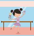 ballerina in dance for ballet school or studio vector image vector image