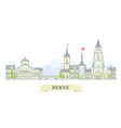 berne switzerland - old town city panorama vector image vector image