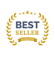 best seller ceremony award laurel winner vector image vector image