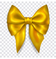 big yellow bow vector image vector image
