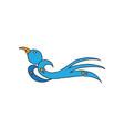 bird animal cartoon vector image vector image