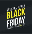 black friday big sale collection vector image