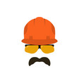 builder face with glasses in a construction vector image