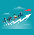business running to target concept vector image vector image