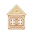 cartoon festive gingerbread house on a white vector image