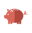 cartoon piggy money security bank icon vector image vector image