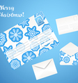 Christmas envelope set vector image