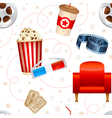 Cinema seamless texture vector image