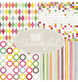 Colorful geomertic background vector image vector image