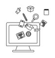 computer and education items vector image vector image