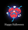 congratulatory halloween card with funny red vector image vector image