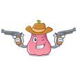 cowboy rose apple character cartoon vector image