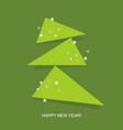 creative christmas tree formed from curled corner vector image vector image