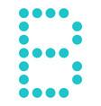 digital letter b display board round dot vector image vector image