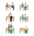 family generations development stages process vector image vector image