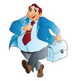 fat businessman vector image vector image
