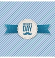 Fathers Day festive Banner with Ribbon and Text vector image vector image