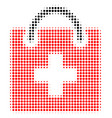first aid kit halftone icon vector image vector image