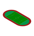 football field racetrack isometric style vector image vector image