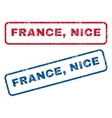 France Nice Rubber Stamps vector image vector image