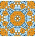 Geometric ethnic oriental ikat-like seamless vector image