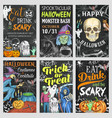 halloween holiday trick or treat party banner vector image vector image