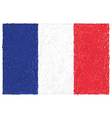 hand drawn of flag of France vector image vector image