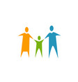 happy family icon parents and baby logo vector image