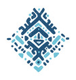 ikat ornament tribal pattern vector image