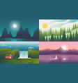 landscape backgrounds travel and adventure vector image