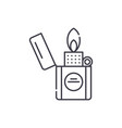 lighter line icon concept lighter linear vector image vector image