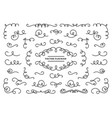 line flourish ornament swirls vintage swirl lines vector image vector image
