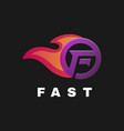 logo fast gradient colorful style vector image