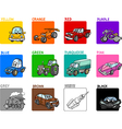 main colors cartoon collection vector image vector image