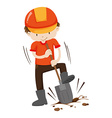 Man digging hole on the ground vector image