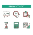 Marketing Strategy Icons Simple glyph style icons vector image vector image